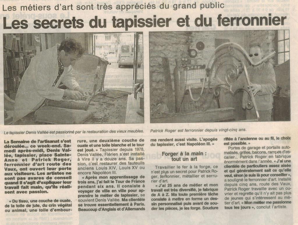 Journée des métiers d'art Vire (1999)